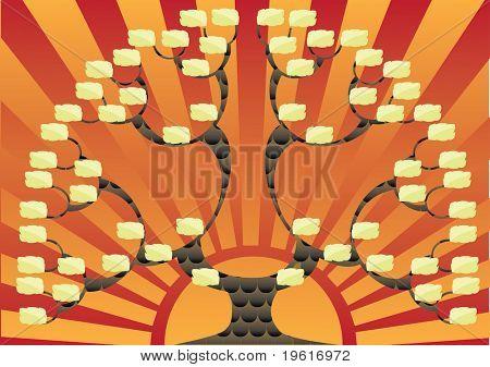 Genealogical tree. Vector.
