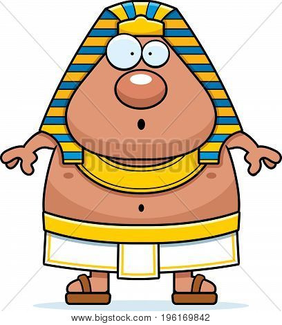 Surprised Cartoon Egyptian Pharaoh