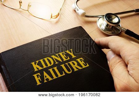 Kidney failure or end-stage renal disease (ESRD) concept.