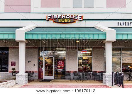 Fairfax, Usa - January 27, 2017: Firehouse Subs Restaurant Facade