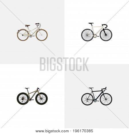 Realistic Bmx, Road Velocity, Cyclocross Drive And Other Vector Elements