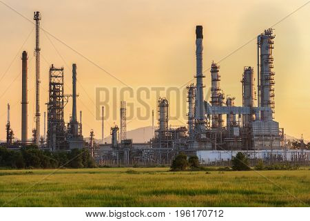 Refinery plant of a petrochemical industry .