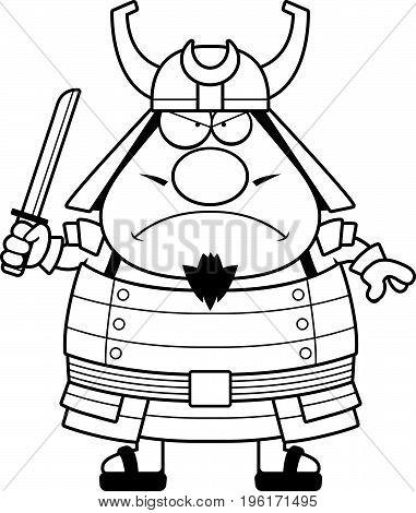 Angry Cartoon Samurai