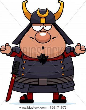 Confused Cartoon Samurai