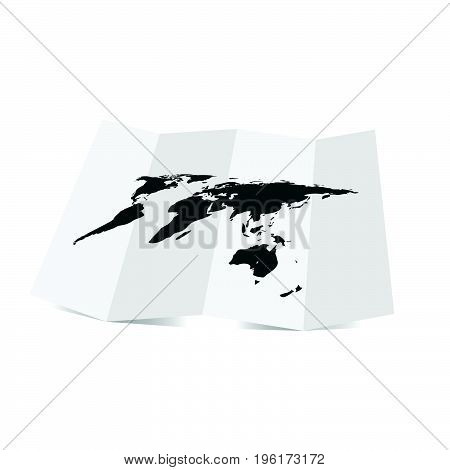 Map Of Planet Earth Illustration
