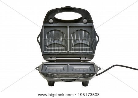 Open Croque-monsieur Iron Maker Isolated