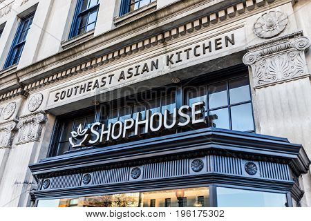 Washington Dc, Usa - February 5, 2017: Shophouse Fast Food Restaurant On Dupont Circle, Owned By Chi