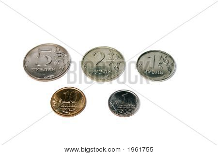 Satz von russischen Münzen