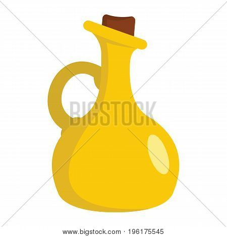 Bottle of olive oil cartoon icon. Bottle of olive oil vector illustration isolated on white background for web
