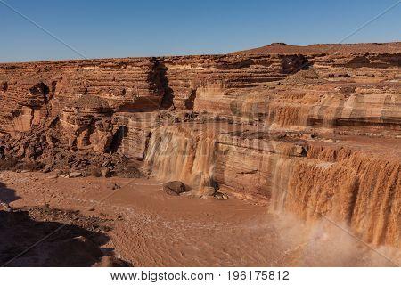the scenic grand (chocolate) falls along the Little Colorado River in northern Arizona