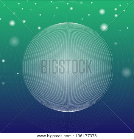 A background with abstract spheres and light effects. EPS 10 Vector and Jpg file.
