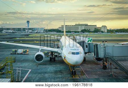 Aircarfts At Naia Airport In Manila, Philippines