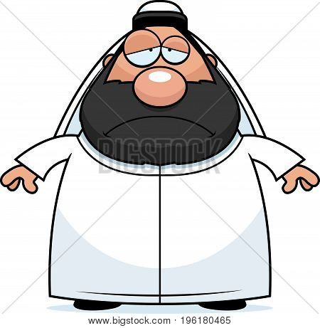 Sad Cartoon Sheikh