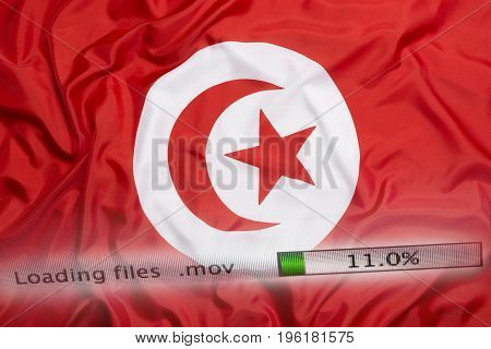 Downloading Files On A Computer, Tunisia Flag