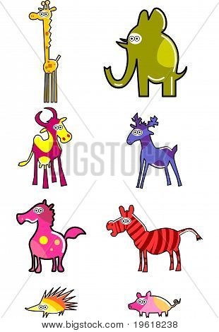 Funny Colorful Animals