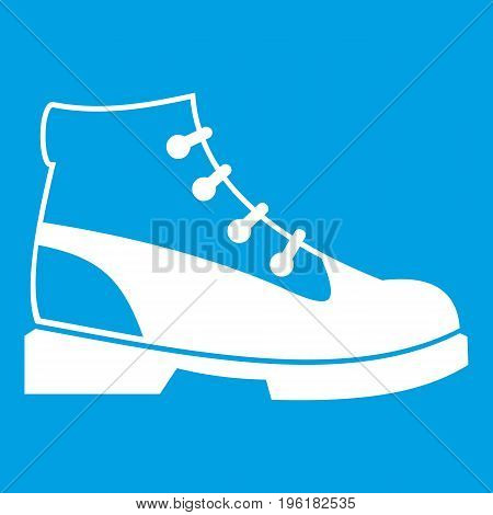 Men oxfords icon white isolated on blue background vector illustration