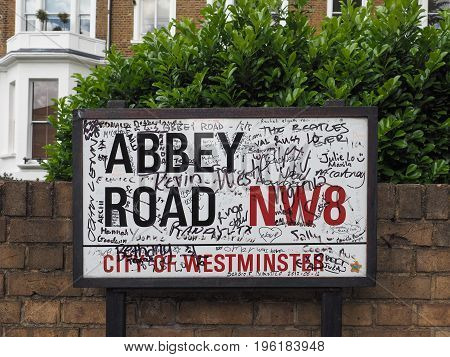 Abbey Road Sign In London
