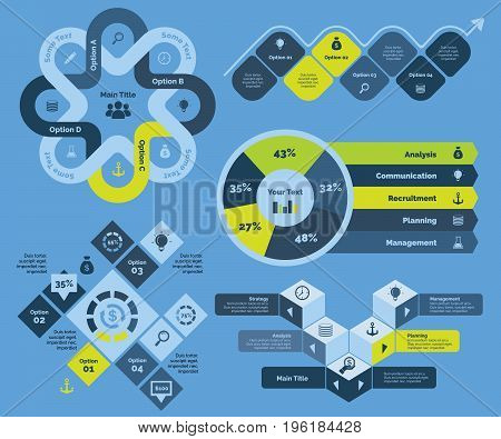 Projection and strategy diagram. Business data. Creative concept for infographic, various templates, presentation, marketing, annual report. Can be used for topics like strategy, projection, start-up