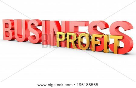 3D Business Profit Word