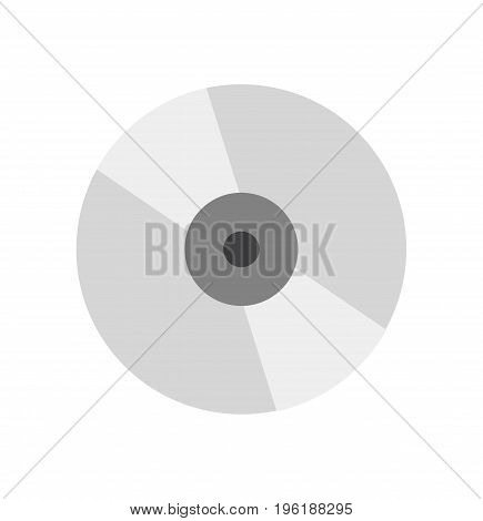 Cd-disk icon sign. Music concept. Cd isolated. Vector stock.