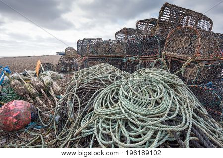Lobster Pots And Floats