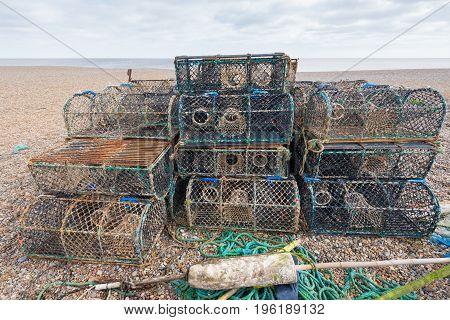 Stack Of Lobster Pots