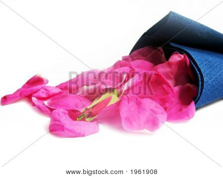 Petals Of Roses In Serviette