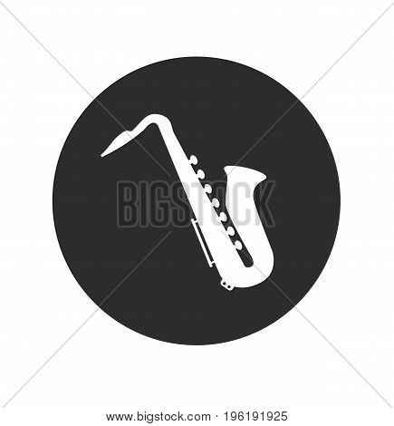 Saxophone icon sign. Saxophone isolated. Vector stock.