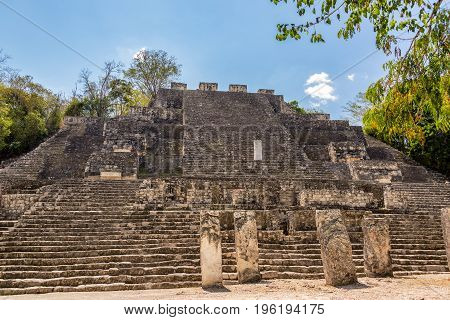 Structure Two In Calakmul