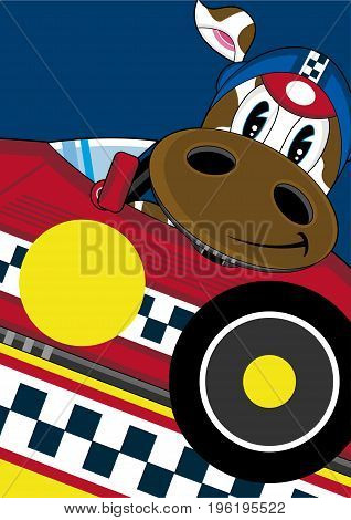 Racing Driver Cow 2