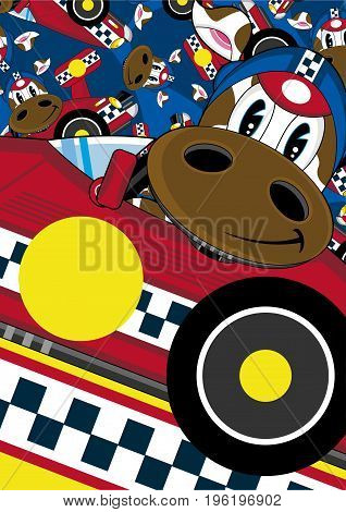 Racing Driver Cow 8