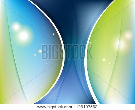 Abstract wavy line background, vector art illustration.