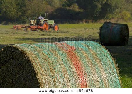 Mowing, Hay Bale