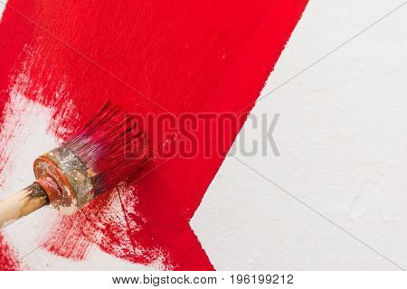 Painting Red Line