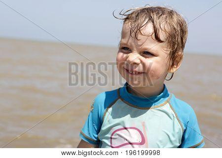 Kid On Beach