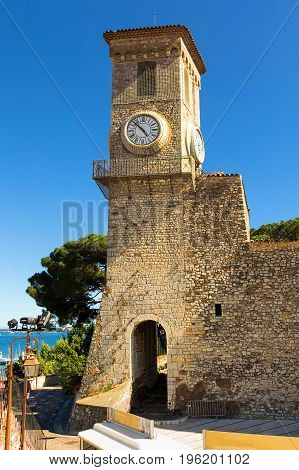 Bell tower of church of Our Lady of Hope in Cannes. France