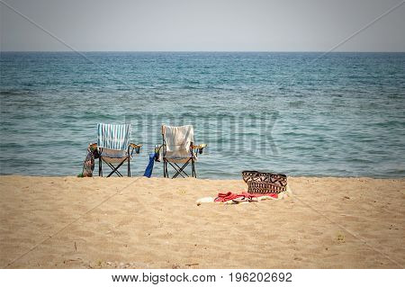 Two Chairs On The Beach