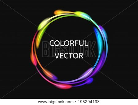 Colorful  Neon Circle Lights Effect.
