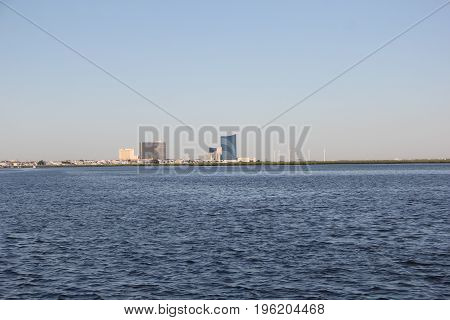 The Atlantic City, NJ skyline from Brigantine, new jersey