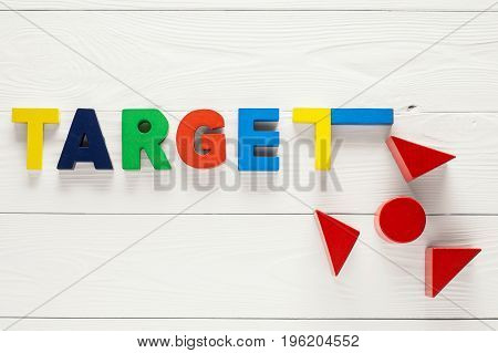 Target word business concept. Advertising concept. Concept for business ideastartup and innovation technology.