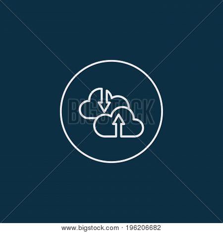 Internet cloud computing vector icon. Vector illustration