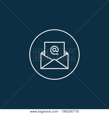 E-mail icon on white background. Vector illustration