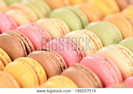 Macarons Macaroons Cookies Dessert From France