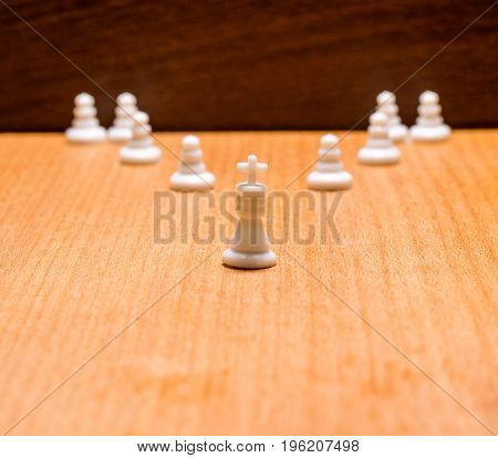 Figurines of the ancient table game invented in India which is called chess and now it is popular all over the world