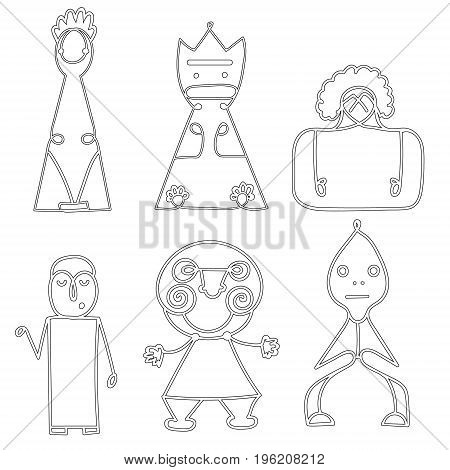Vector set of Dolls Abstract Human Symbols, men logos. Success, Achievement, Sport, Activity Isolated On White Background. Illustration, Graphic Design Editable For Your Design.