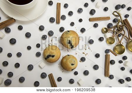 Mini Blueberry Muffins With Coffee