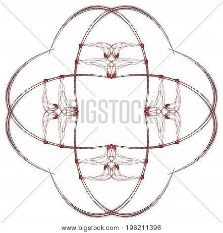 Abstract Grunge Red Isolated Floral Pattern