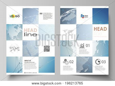 The vector illustration of the editable layout of A4 format covers design templates for brochure, magazine, flyer, booklet, report. Scientific medical DNA research. Science or medical concept