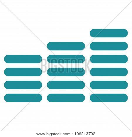 Coin Columns vector icon. Flat soft blue symbol. Pictogram is isolated on a white background. Designed for web and software interfaces.