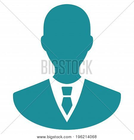 Manager vector icon. Flat soft blue symbol. Pictogram is isolated on a white background. Designed for web and software interfaces.